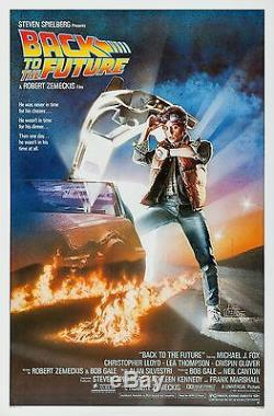 Back To The Future (1985) Original Movie Poster Rolled Artwork By Drew