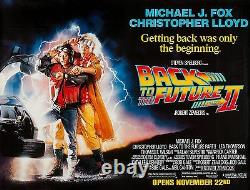 Back To The Future II (1989) Original Subway Movie Poster 46 X 60 Rolled