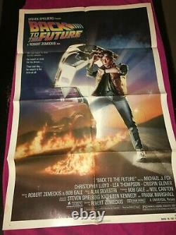 Back To The Future Original Theatrical 1985 Poster Folded