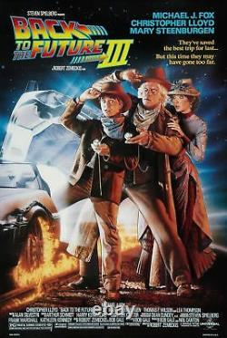 Back To The Future Part III Double Sided Orig Rolled Mint Movie Poster 1990 Ds
