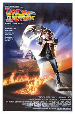 Back to the Future (1985) Movie Poster, Original, SS, Unused, NM/M, Rolled