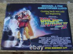 Back to the Future Part II (1989) Movie Poster, Original, SS, Unused, NM, Rolled
