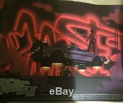 Back to the Future Part II MONDO Poster by George Bletsis In Hand