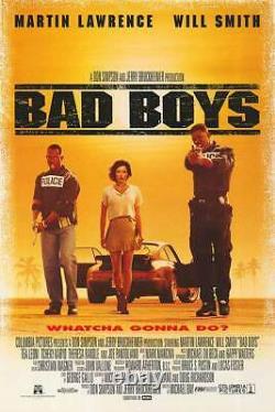 Bad Boys Original Movie Poster Single Sided 27x40