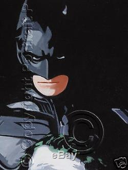 Batman The Joker Dark Knight Hand-Painted Oil Painting NOT a Giclee Print Poster