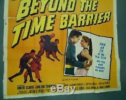 Beyond the Time Barrier original sci-fi 3-sheet movie poster Edgar Ulmer