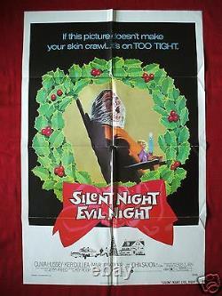 Black Christmas 1974 Original Movie Poster Silent Night Evil Night Halloween