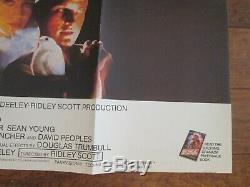 Blade Runner 1982 Original British Quad Movie Poster Harrison Ford