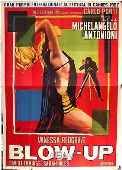 Blow-up Michelangelo Antonioni Original Italian Four Sheet Movie Poster