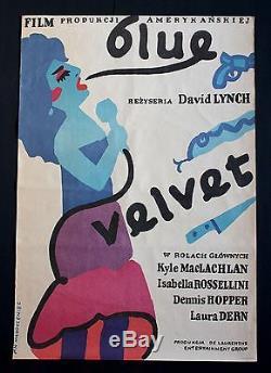 Blue Velvet 1sh Original Polish Poster Lynch Maclachlan Rossellini Dern