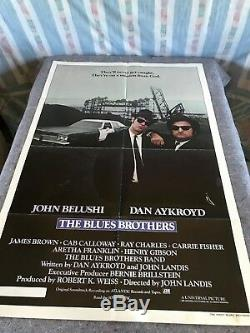 Blues Brothers 1980 Orig. 1 Sheet Movie Poster 27 x 41 (F/VF-) Belushi/Aykroyd