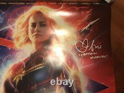 Brie Larson Signed Original Captain Marvel 27x40 Movie Poster With Inscription