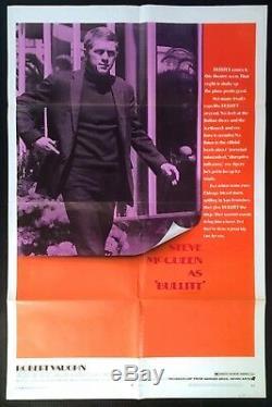Bullitt 1968 Original Movie Poster One Sheet 27 x 41 Steve McQueen Excellent