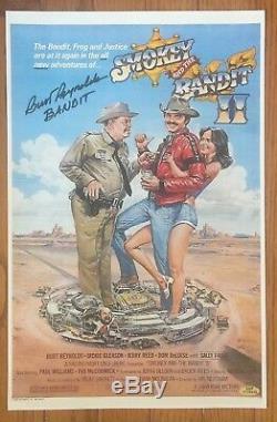 Burt Reynolds Signed Smokey And The Bandit II 11x17 Movie Poster Cert HOLO