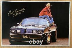 Burt Reynolds Signed Smokey And The Bandit TRANS AM 11x17 Poster Cert HOLOGRAM