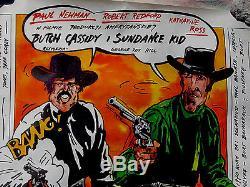 Butch Cassidy & The Sundance Kid (1969)Original Polish Movie Poster 27x38