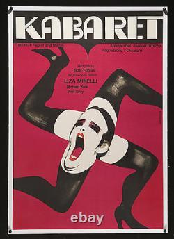CABARET Awesome 1973 Polish 23x33 poster rare first release Wiktor Górka art