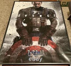 CAPTAIN AMERICA First Avenger 27x40 DS Movie Poster Teaser Rare 2011