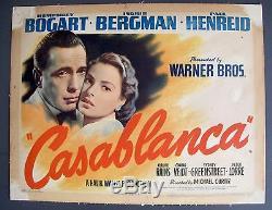 CASABLANCA ORIGINAL MOVIE POSTER TITLE LOBBY CARD 1942 11x14 SUPERB COLOR