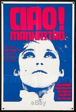 CIAO MANHATTAN Rare Original'73 poster Edie Sedgwick Andy Warhol filmartgallery