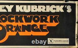 CLOCKWORK ORANGE 1972 ORIG 82X24 X RATED BANNER MOVIE POSTER MALCOLM McDOWELL