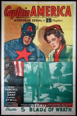 Captain America Dick Purcell Republic Serial 1944 1sht