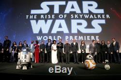Cast Signed Star Wars Rise of Skywalker Premiere VIP Movie Poster Jedi Daisy