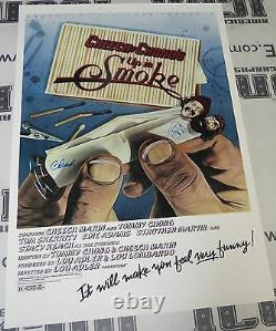 Cheech Marin & Tommy Chong Signed Up In Smoke 24x36 Movie Poster Autograph 1978