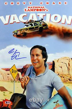 Chevy Chase Vacation Authentic Signed 12x18 Mini Movie Poster BAS Witnessed 1