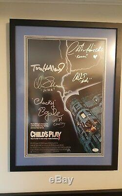 Child's Play Movie Poster Signed by Cast 17x23 Framed Horror Auto'd JSA