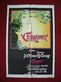 Chinatown 1974 Original Movie Poster 1sh Jack Nicholson Faye Dunaway Film Noir