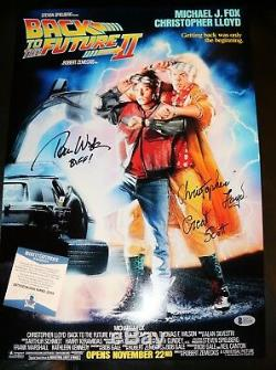 Chistopher Lloyd Tom Wilson Signed Back to the Future 2 13x19 Poster PSA Beckett