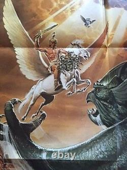 Clash Of The Titans Advance One-sheet Movie Poster Signed By Ray Harryhausen