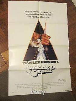 Clockwork Orange MINT 1sheet Movie Poster- Stanley Kubrick