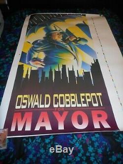 Cobblepot For Mayor Batman Returns Original Ss Rolled Poster/prop 1992