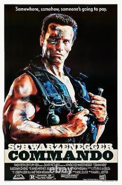 Commando (1985) Original Movie Poster Rolled