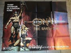 Conan The Barbarian Original Us Subway Movie Poster Rare Horizontal 45x60 Huge