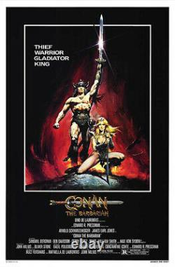 Conan the Barbarian (1982) Movie Poster, Original, SS, Unused, NM, Rolled