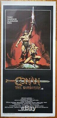 Conan the Barbarian original daybill movie poster Arnold Schwarzenegger