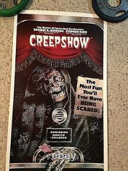 Creepshow 1982 Original Rolled Movie Poster Stephen King 14 x 36