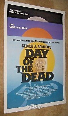 DAY OF THE DEAD'85 Rolled original one sheet! GEORGE ROMERO / ZOMBIES