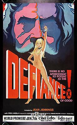 DEFIANCE OF GOOD CineMasterpieces ORIGINAL MOVIE POSTER 1975 X RATED ADULT
