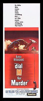 DIAL M FOR MURDER CineMasterpieces ORIGINAL MOVIE POSTER HITCHCOCK GRACE KELLY