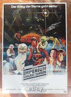 DIN A1 original STAR WARS vintage Movie POSTER ESB Das Imperium schlägt zurück