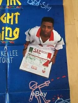 DO THE RIGHT THING Original 1 Sheet Movie Poster 1989 27x40 Spike Lee DS