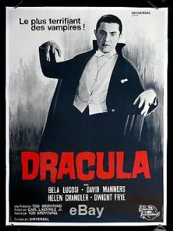 DRACULA CineMasterpieces BELA LUGOSI FRENCH MOVIE POSTER 1960's HORROR VAMPIRE