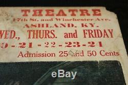 DW Griffith AMERICA Window Card 1924 Capital Theatre Ashland, KY