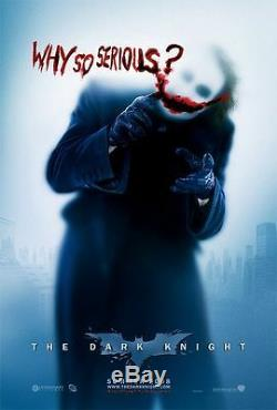 Dark Knight (Joker) Double Sided Original Movie Poster 27x40