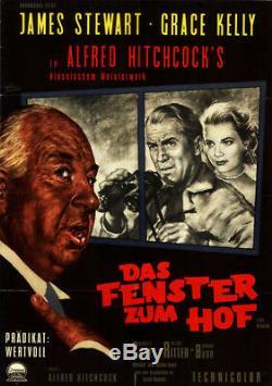 Das Fenster zum Hof ORIGINAL A1 Kinoplakat A Hitchcock / James Stewart / G Kelly