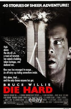Die Hard (1988) Original Movie Poster Rolled